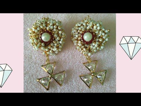 make party wear jhumka /earrings/DIY