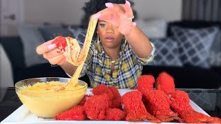 POPULAR FLAMIN HOT CHEETOS FOODS WITH STRETCHY CHEESE LOBSTER TAILS PICKLES TIGER SHRIMP MUKBANG