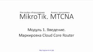 Настройка оборудования MIkroTik. 10 Маркировка Cloud Core Router(Видеокурс