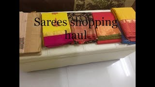 saree shopping haul / Aadi month shopping /