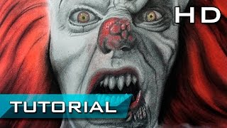 How to Draw Pennywise Clown from IT ESO 1990 - Scary FanArt