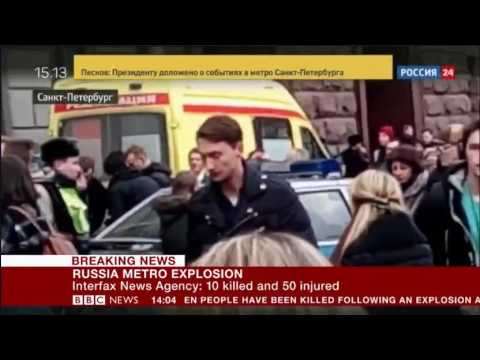 Explosion in St  Petersburg Metro, 10 killed 50 casualities   Pres Putin is considering all options