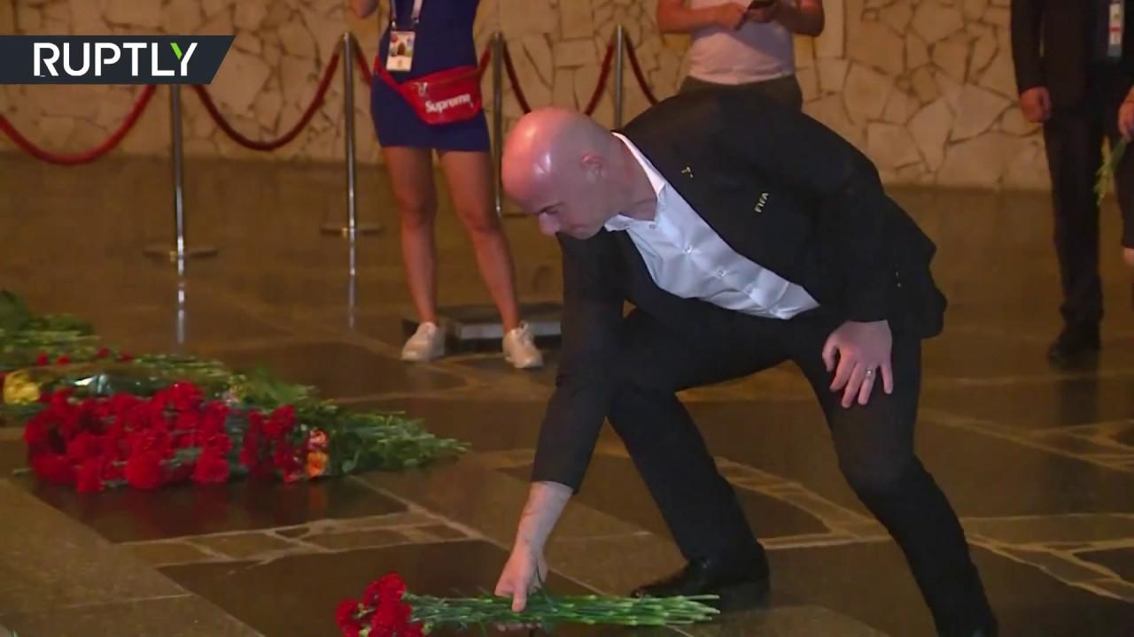 FIFA President Infantino and German Football Association visit WWII memorials