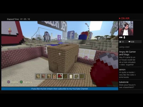 Minecraft - Build With Me #3 (PS4 Live Stream)