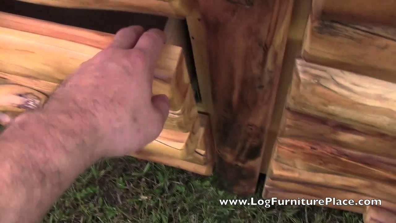 Beartooth Aspen 6 Drawer Log Dresser With Half Log Drawers | Aspen Log  Furniture