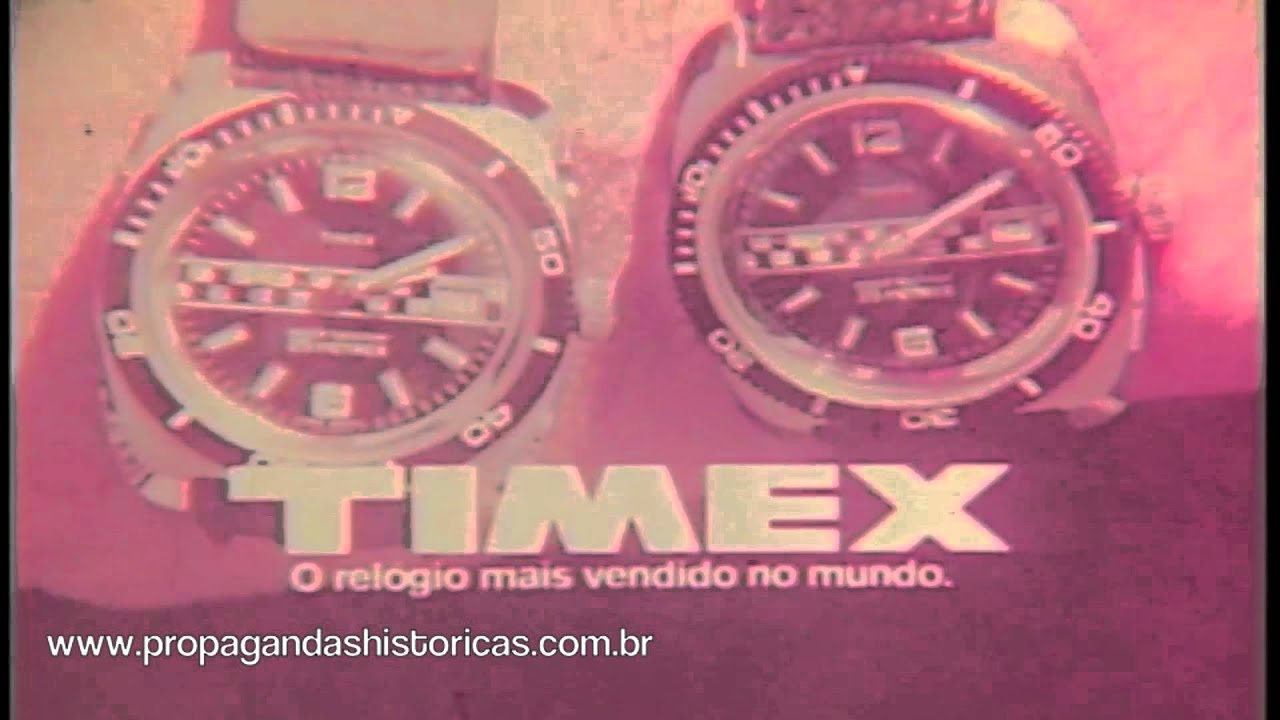 79be3ca5328 Relógios Timex (Emerson Fitipaldi) - 1974 - YouTube