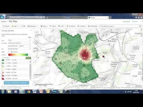 data analysis tools using crime data ArcGIS online