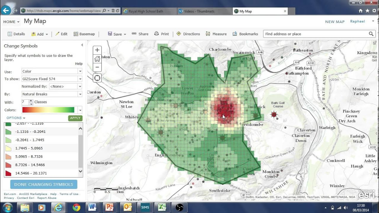 Pointer Spot Tool For Maps: Data Analysis Tools Using Crime Data ArcGIS Online