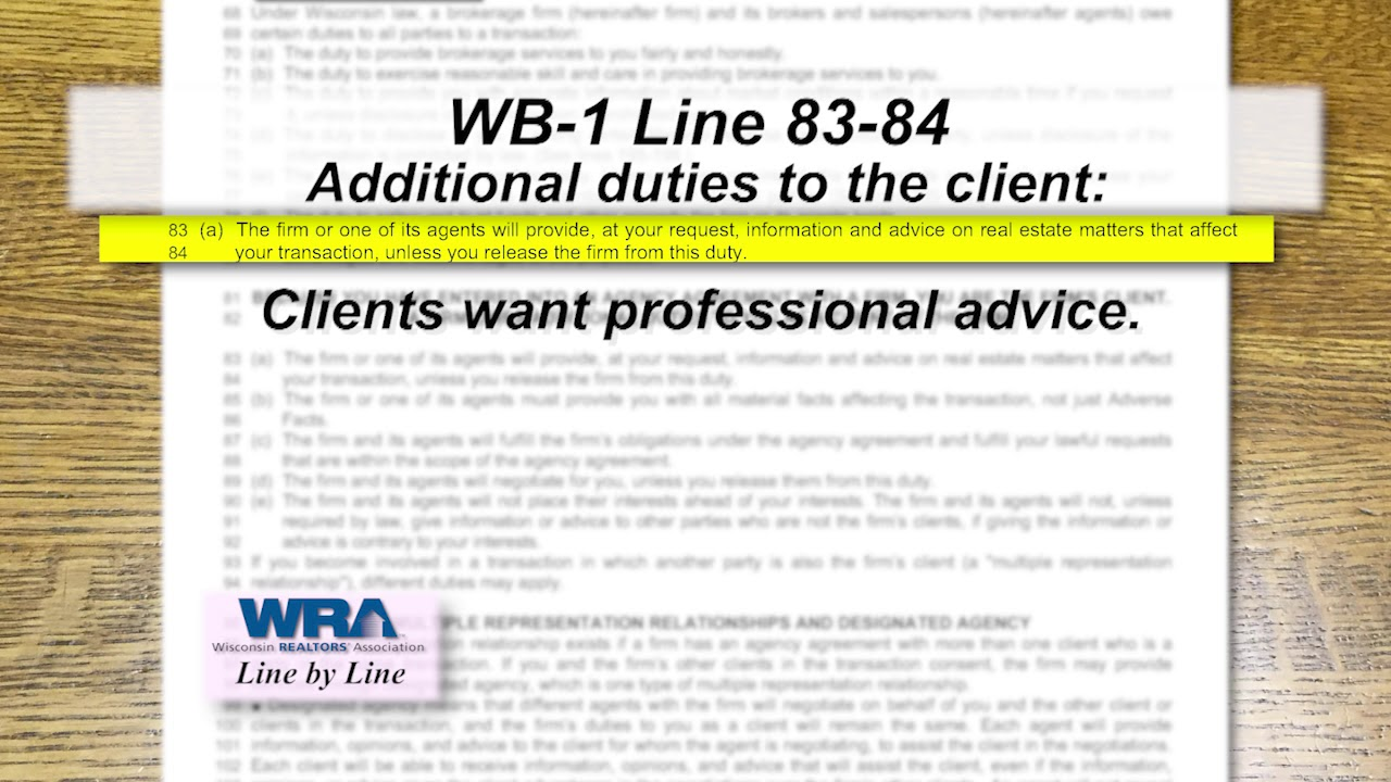 Wisconsin REALTORS® Association: Line by Line — Forms