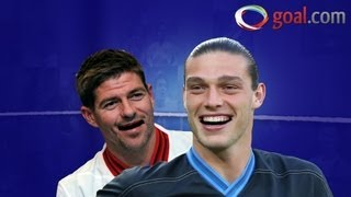 Poor Andy! Gerrard can't resist winding up Liverpool and England team-mate Carroll