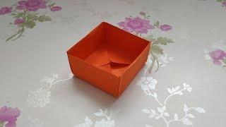 手工折纸DIY,如何折叠纸盒子,超级简单的纸盒子折法