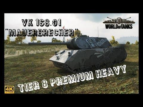 Let's Play World of Tanks | VK 168.01 Mauerbrecher | Neuer Premium Heavy [ German - Gameplay - 4K ]