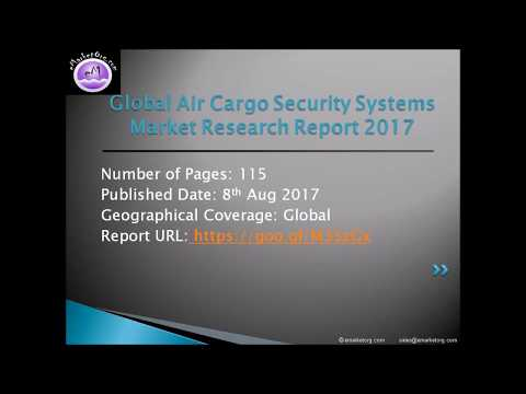 Air Cargo Security Systems Industry 2017 Market Analysis