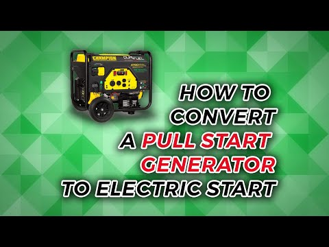 Converting a Generator to Electric Start