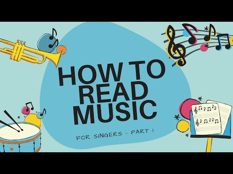 How to Read Music for Singers - The Staff and Ledger Lines - part 1