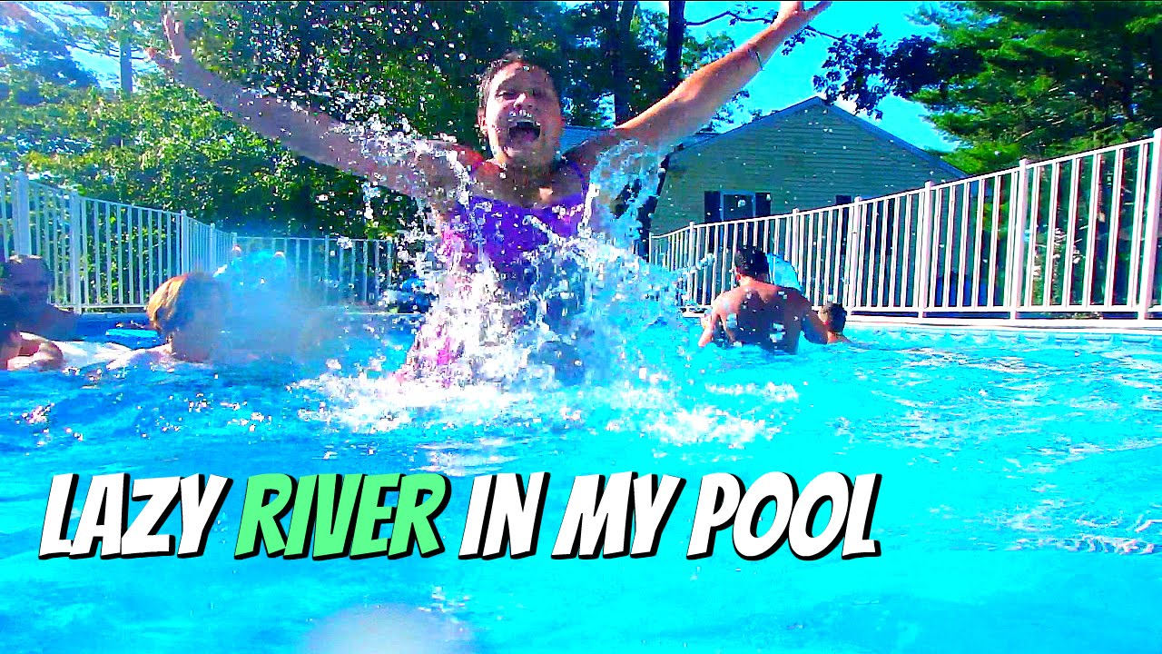 diy lazy river pool vlog with keepin u0027 it relle youtube