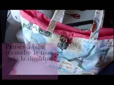 tuto couture - mon sac en toile cirée ! - youtube