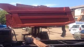 Установка кузова на откапиталенный КАМАЗ.Трансформация тягача в самосвал .