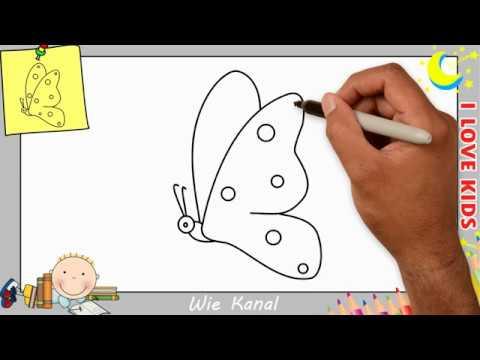 schmetterling zeichnen lernen einfach schritt für schritt für anfänger  kinder 6 - youtube