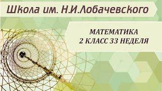Математика 2 класс 33 неделя Геометрические фигуры плоские и объемные