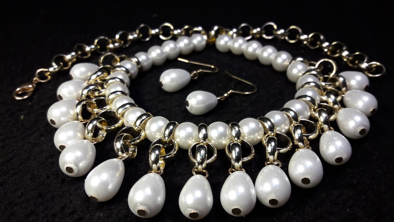Elegant And Easy Pearls Necklace Class # 46 !!!