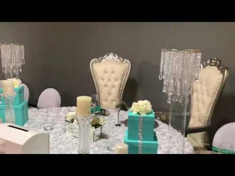 Tiffany Co Themed Wedding Reception Youtube