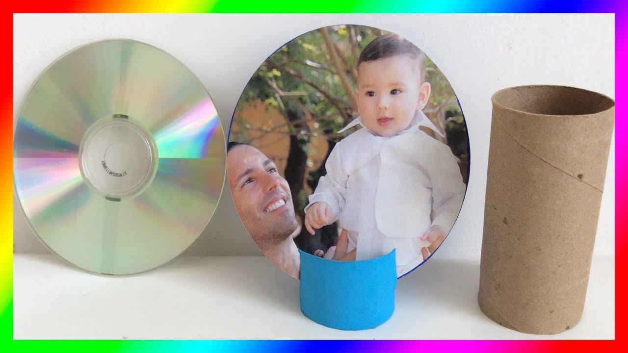 Regalo Para Papa Portaretratos Reciclado Gift For Dad Como Hacer