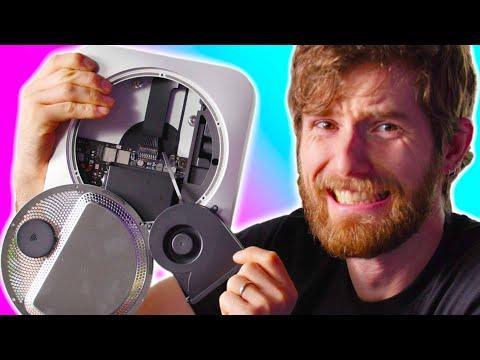 Linus skruvar isär Mac mini Innehåller ett modermodem och en fläkt