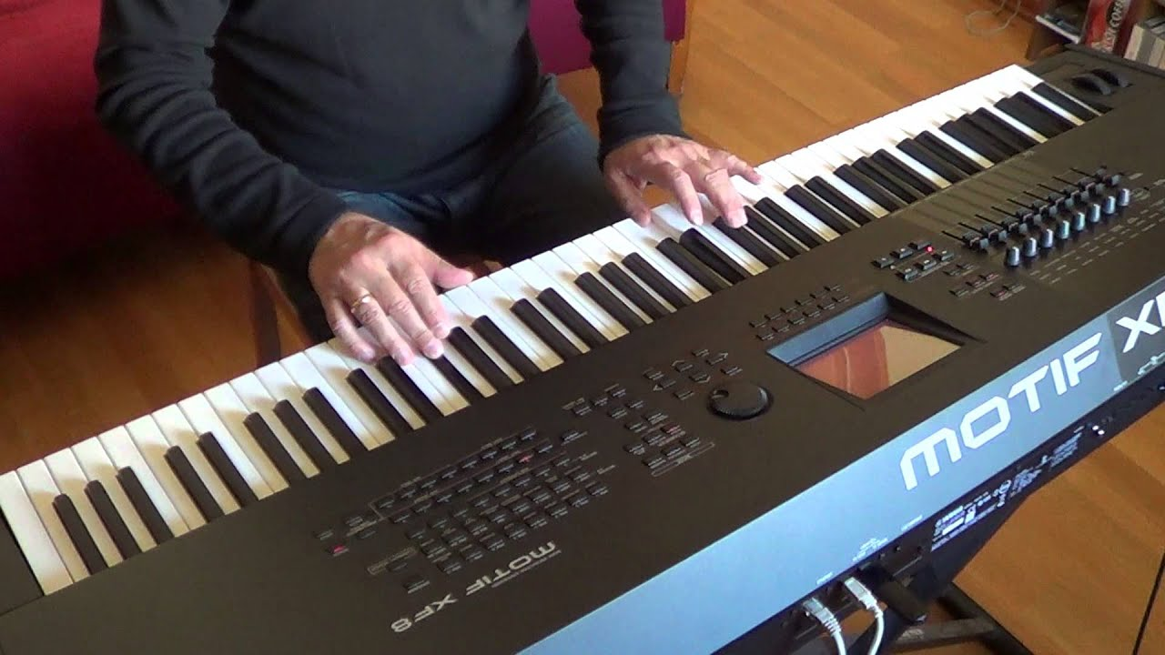 yamaha motif xf8. yamaha motif xf8. lullaby. romantic music for harp and orchestra - youtube xf8