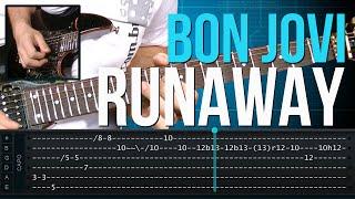 Bon Jovi - Runaway (como tocar - aula de guitarra)
