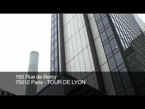 office space at 185 rue de bercy 75012 paris tour de lyon youtube. Black Bedroom Furniture Sets. Home Design Ideas