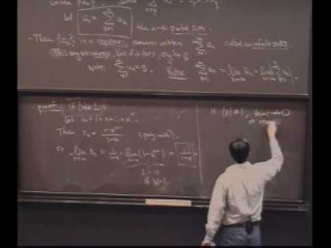 Real Analysis, Lecture 18: Series