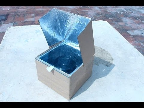 How to make a simple solar cooker to understand the use of s