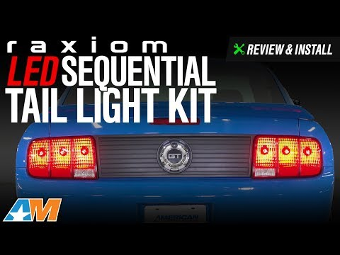 2005-2009 Mustang Raxiom LED Sequential Tail Light Kit Review & Install