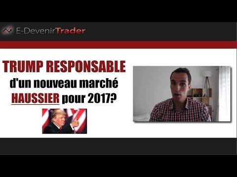 TRUMP RESPONSABLE d'un nouveau marché haussier pour 2017? (bourse)