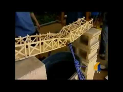 Popsicle bridge contest