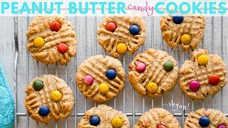 Peanut Butter Candy Cookies (vegan)