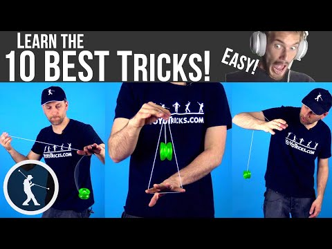 Learn 10 AWESOME Easy Beginner Yoyo Tricks by PewDiePie
