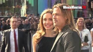 Brad Pitt and Angelina Jolie arrive at 'World War Z' World Film Premiere