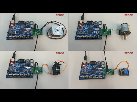 Stepper, DC, Servo Motor and Relay control using EDGE Artix 7 FPGA Kit - Motor Drive Addon