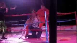 Kangur wyrzuca kobietę z ringu a potem wrzucą ją do kosza