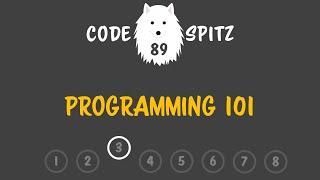 코드스피츠89 - Programming 101 3회차