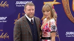 "Guy Ritchie and Jacqui Ainsley ""Aladdin"" World Premiere Purple Carpet"