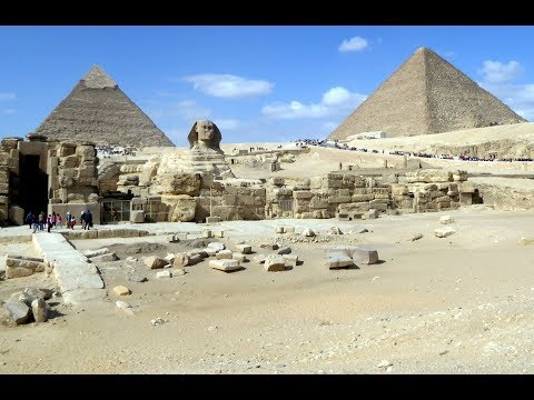 Pyramids Khufu, Khafre, Menkaure,Sphinx 2018 ancient music