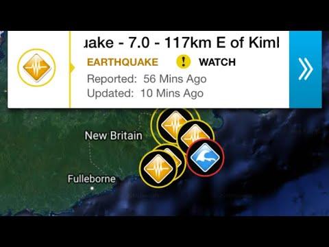 //ALERT\\ 7.0 Earthquake Kimbe, Papua New Guinea October, 10, 2018