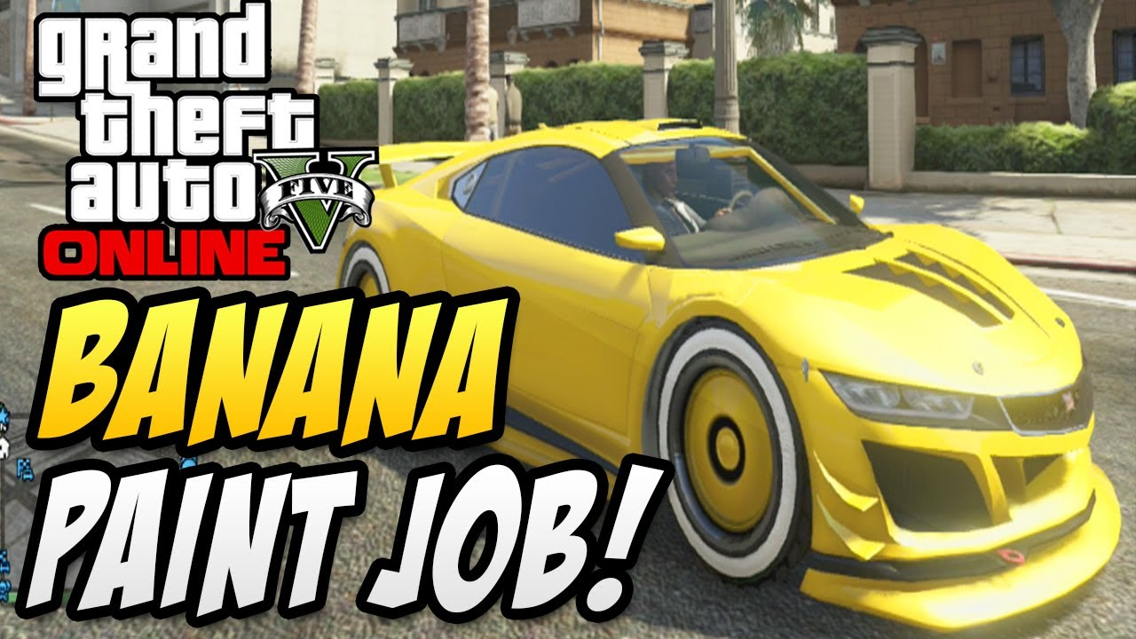"Best Yellow Paint gta 5 online - ""banana paint job"" best yellow car paint trick"