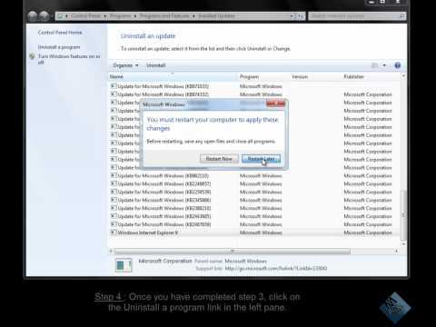 How to Uninstall Internet Explorer 9