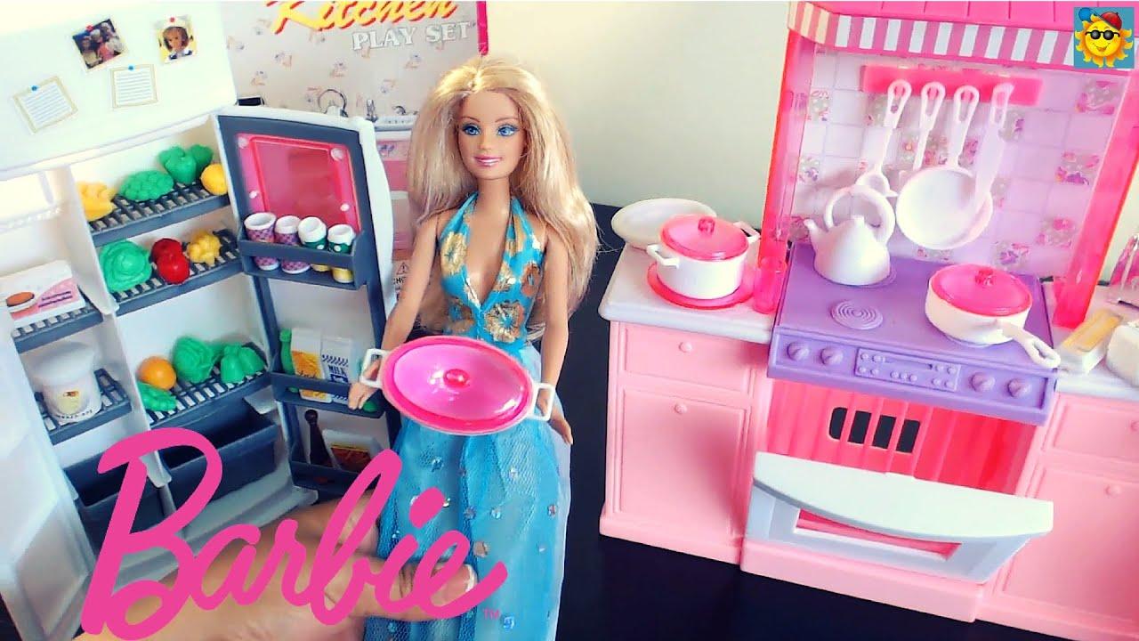 Juegos De Barbie La Barbie En La Cocina Youtube