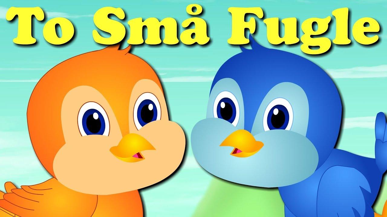 To små fugle | Danske Børnesange | 16 minutter mix med tekst