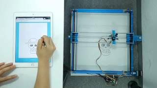 Drawing via Web using micro-step motor controller